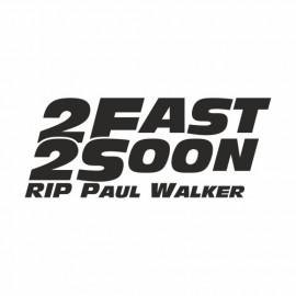 2 Fast 2 soon Rip Paul Walker