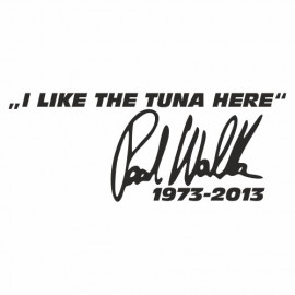 I like the tuna here Paul Walker 1973 - 2013