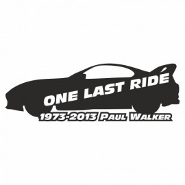 One last Ride Paul Walker Supra
