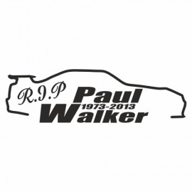 Rip Paul Walker Skyline outline