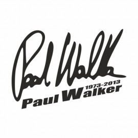 Paul Walker 1973-2013 Unterschrift small