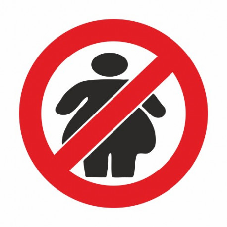 No fat Chics Verbotsschild