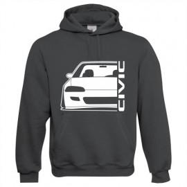 Honda Civic EG3 4 5 6 outline Modern Hoodie