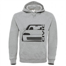 Honda Civic EG8 9 Sedan outline Modern Hoodie