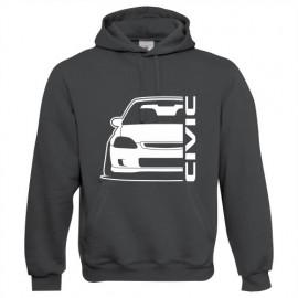 Honda Civic Ek outline Modern Hoodie