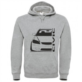 Honda Civic EM2 Facelift outline Modern Hoodie