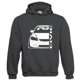 Honda Civic EM2 Facelift outline Modern Hoodie