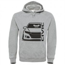 Honda Civic Type R 2015 outline Modern Hoodie