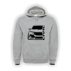 Honda Civic Type R 2017 Outline Modern Hoodie