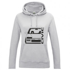 Honda Civic EE9  Outline Modern Lady Hoodie