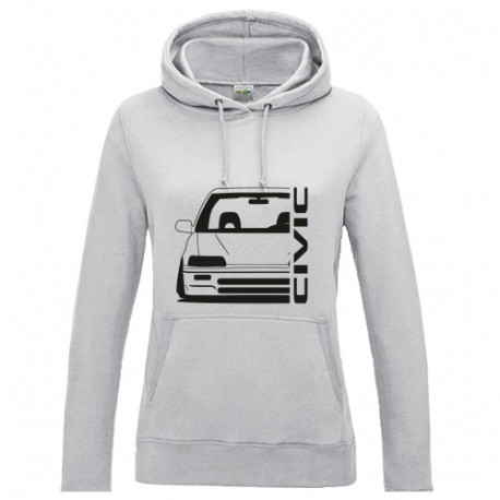 Honda Civic EC  Outline Modern Lady Hoodie