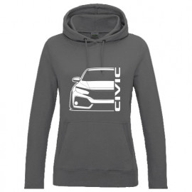 Honda Civic FK 2017-2018 Outline Modern Lady Hoodie
