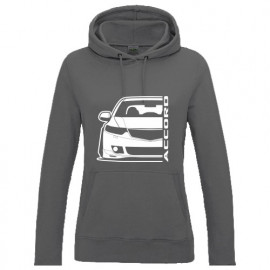 Honad Accord CU2  Outline Modern Lady Hoodie