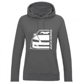 Honda Accord CL7  Outline Modern Lady Hoodie