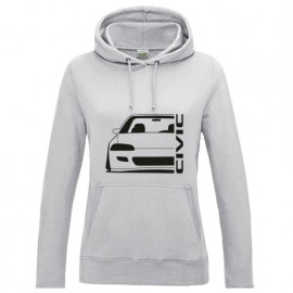 Honda Civic EG3 4 5 6  Outline Modern Lady Hoodie
