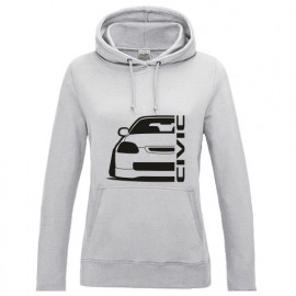 Honda Civic EJ Preface Outline Modern Lady Hoodie