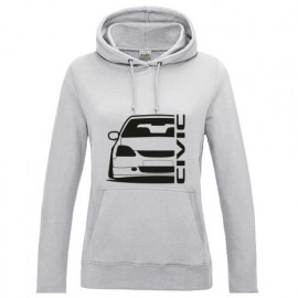 Honda Civic EP Outline Modern Lady Hoodie