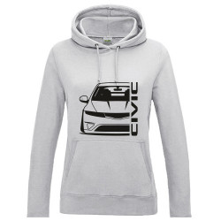 Honda Civic FN Type R Outline Modern Lady Hoodie
