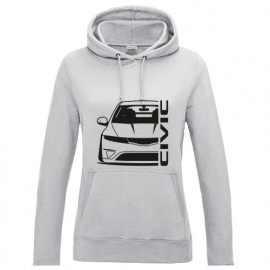 Honda Civic FN Outline Modern Lady Hoodie