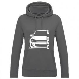 VW Golf MK7 Gti Outline Modern Hoodie Lady