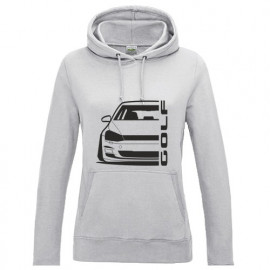 VW Golf MK7 Outline Modern Hoodie Lady
