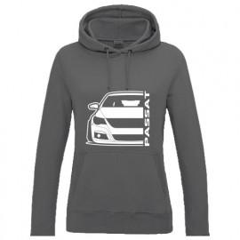 VW Passat CC Outline Modern Hoodie Lady
