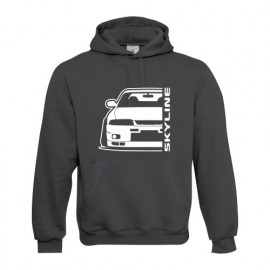 Nissan Skyline R33 GTR Outline Modern Hoodie