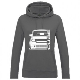Nissan Cube Z12 2010 Outline Modern Hoodie Lady