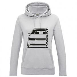 VW Passat 35i Facelift Outline Modern Hoodie Lady