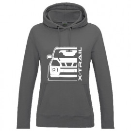 Nissan X-Trail T31 Outline Modern Hoodie Lady