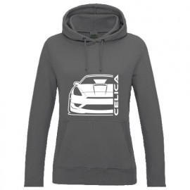 Toyota Celica T23 Facelift Outline Modern Hoodie Lady