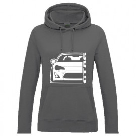 Toyota GT 86 Outline Modern Hoodie Lady