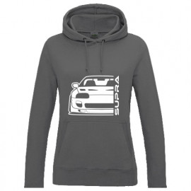 Toyota Supra MK4 Outline Modern Hoodie Lady