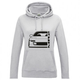Toyota MR2 1991 SW20 Outline Modern Hoodie Lady