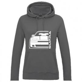 Toyota Supra MK3 Vorfacelift  Outline Modern Hoodie Lady