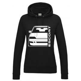 Ford Escort MK5 Rs2000 Outline Modern Hoodie Lady