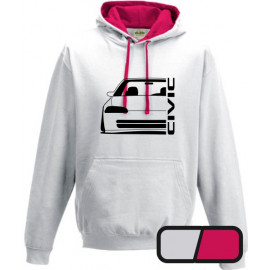 Honda Civic EG 8 9 Sedan Outline Modern Hoodie Varsity