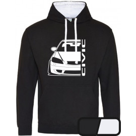 Honda Civic EM 2 Facelift Outline Modern Hoodie Versity