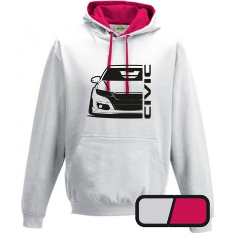 Honda Civic Type R 2015 Outline Modern Hoodie Varsity