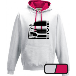 Honda Civic Type R 2017 outline Hoodie Varsity