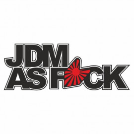 Jdm as Fuck Rising Sun outline