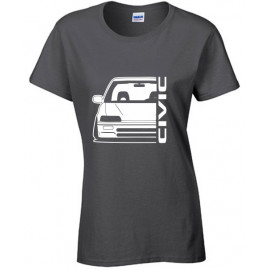 Honda Civic EC Outline Modern T-Shirt Lady