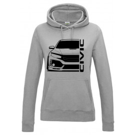 Honda Civic FK8 Type R Outline Modern Lady Hoodie