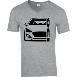 Hyundai I30 GD 2011-2017 Coupe Modern Outline V-Neck