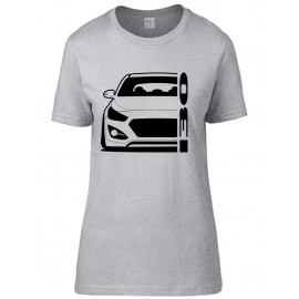 Hyundai I30 GD 2011-2017 Coupe Modern Outline T-Shirt Lady