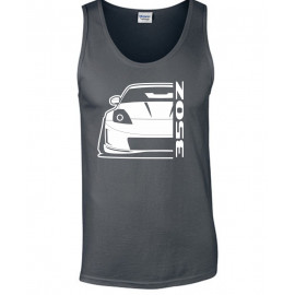 Nissan 350 Z Facelift Outline Modern Tank Top