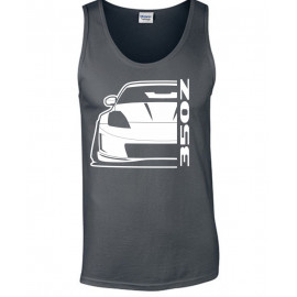 Nissan 350 Z Outline Modern Tank Top