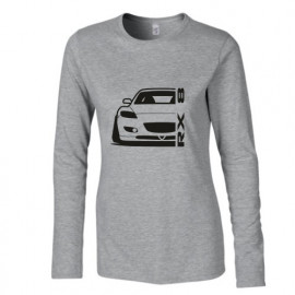 Mazda RX8 R Outline Modern Longsleeve Lady