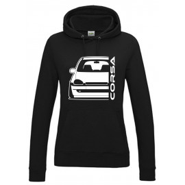 Opel Corsa B Outline Modern Hoodie Lady