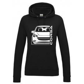 Opel Corsa E Outline Modern Hoodie Lady